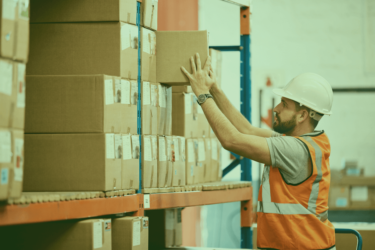 Warehouse Worker doing his work